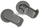 "PLU21300010 Cal Spas Hydroflow Diverter Valve Handle Only Grey  Fits 2"" Valve"