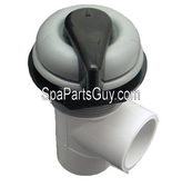 "X245361 Master Spa 1"" Waterfall Shut Off Diverter Valve Asssembly Complete Gray Cap/Black Knob"