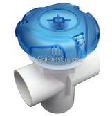 "14214 Dynasty Spa Trix Style 2"" Diverter Valve Translucent Blue Measures 5"" Diameter"