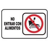 """7947 SEÑAL PLACA RIGIDA """"NO INTRODUCIR ALIMENTOS"""""""