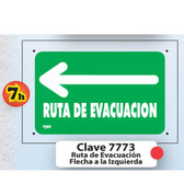 7773 SEÑAL  ELITE RUTA DE EVACUACION HACIA LA IZQUIERDA