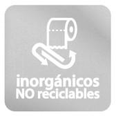 ETIQUETA DE VINIL AUTOADHERIBLE TRANSPARENTE PARA RESIDUOS INORGÁNICOS NO RECICLABLES NORMA AMBIENTAL CDMX