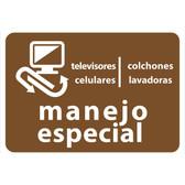 AlproShop® | ETIQUETA DE VINIL AUTOADHERIBLE CAFE PARA RESIDUOS DE MANEJO ESPECIAL NORMA AMBIENTAL CDMX