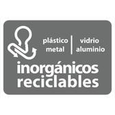 AlproShop® | ETIQUETA DE VINIL AUTOADHERIBLE GRIS PARA RESIDUOS INORGÁNICOS RECICLABLES NORMA AMBIENTAL CDMX
