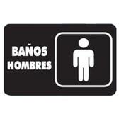 """7930 SEÑAL PLACA RIGIDA """"BAÑOS  HOMBRES"""""""