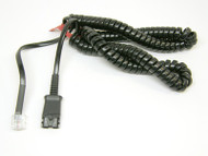 Plantronics 10' Coiled Cord converts QD to Modular for AP15