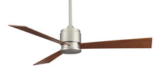 Zonix satin nickel finish fan with reversible cherry/walnut wood blades