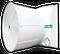 "J&D STORM - 55"" Fiberglass Exhaust Fan - 30,000 CFM @ .05"" SP - 3 Phase BD 230/460V 2HP 3PH 3 Blade Cast Aluminum, Aluminum Shutter, Energy Efficient."
