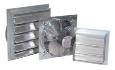 "A6 - J&D ES SHUTTER FANS - Sizes 10"", 12"", 16"", 20"", 24"" and 30"" 