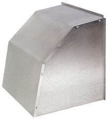 """J&D Weather Hoods for 10"""" to 50"""" Wall Master, ES , Twister Fans & Power Shutters (24"""" ES Galvanized listed)  (CLICK TO VIEW DETAILS OR CALL FOR FREE EXPERT ADVICE & PRICING)"""