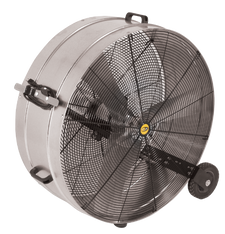 "J&D GALVANIZED PORTABLE DRUM FAN - Sizes  36"", 42"" and 48""  11,800-23,500 CFM   (CLICK TO VIEW DETAILS OR CALL FOR FREE EXPERT ADVICE & PRICING)"