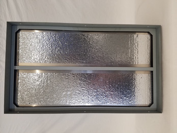 """CENTRIC AIR NEW 1"""" POLY FOAM ENERGY STAR R-5 BACK DRAFT DAMPER  (COMES FREE WITH ALL CENTRIC AIR WHOLE HOUSE FANS) CLOSED VIEW"""
