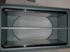 """QA NEW 1"""" POLY FOAM ENERGY STAR R-5 BACK DRAFT DAMPER  OPEN (COMES FREE WITH ALL QA WHOLE HOUSE FANS) OPEN VIEW"""