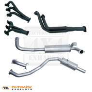 "TOYOTA LANDCRUISER 80 Series WAGON 4.5L PETROL FZJ80 2.5"" Aluminised Exhaust System With Extractors"