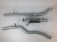 "TOYOTA LANDCRUISER 76 Series WAGON 4.5L V8 3.0"" Aluminised Exhaust System"