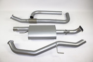 "Nissan Navara D40 2.5L Dual Cab MANUAL 3"" Aluminised Exhaust System"