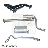 "TOYOTA HILUX LN167 / LN172 Normally Aspirated 5L 3.0L up to 02/2005 2.5"" Stainless Steel Exhaust System With Extractors"