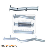 "LAND CRUISER 79 SERIES V8 DOUBLE CAB,DPF, 4WD 3"" 409 Grade Stainless Steel Exhaust System"