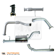 "Pajero NT 3.2L Wagon 3"" Mandrel Bent 409 Grade Stainless Exhaust System"