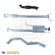 "MITSUBISHI TRITON MN 2.5L TD Dual Cab 3"" 409 Stainless Steel Exhaust System"