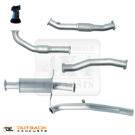 "NISSAN NAVARA D22 2.5L 3"" Dual Cab Ute 409 Stainless Steel Exhaust System"