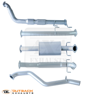 """Toyota Hilux KUN26R D4D TD 3"""" 409 Grade Stainless Exhaust System"""