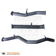 """3.5"""" DPF Back Exhaust system. 409 Stainless Steel."""