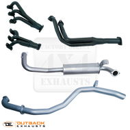 "TOYOTA LANDCRUISER 80 Series WAGON 4.2L HZJ80 2.5"" Aluminised Exhaust System With Extractors"