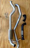 "TOYOTA LANDCRUISER 105 Series WAGON 4.2L 6CYL Factory Manifold/Turbo 3"" 409 Stainless Exhaust System"
