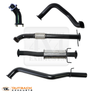 "TOYOTA HILUX UTE 5L Normally Aspirated 3.0L up to 02/2005 DTS Turbo Upgrade 3"" 409 Stainless Exhaust System"