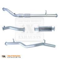 "79 Series V8 TD Double Cab Ute 3"" 409 Grade Stainless Exhaust System With Crossover Pipe"