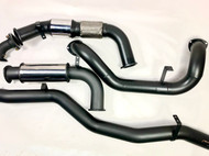 "TOYOTA LANDCRUISER 79 Series SINGLE CAB UTE 4.5L V8 TD Turbo Back 3.5"" 409 Stainless  Steel Exhaust system"