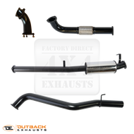"60 Series 3"" 409 Stainless Exhaust System DTS Turbo"
