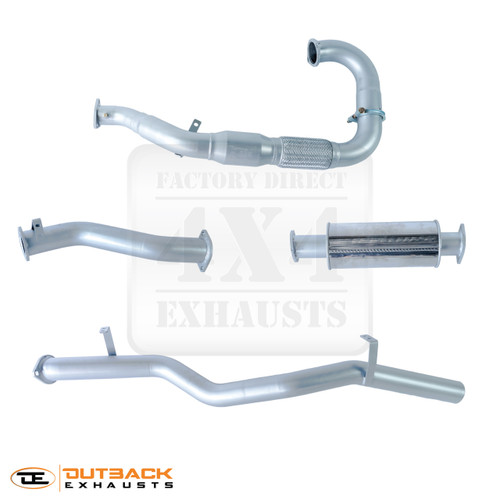 """Photo shows our small muffler option - this system comes standard with a large 11""""x6"""" oval muffler"""