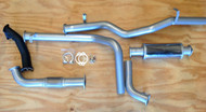 "TOYOTA LANDCRUISER 75 Series UTE 6CYL 4.2L HZJ75 Cab Chassis Aftermarket Factory Turbo 3"" Stainless Steel Exhaust system"