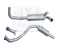 "TOYOTA LANDCRUISER 105 Series WAGON 4.5L 6CYL PETROL FZJ105 2.5"" 409 Stainless Exhaust System NO Extractors"