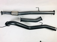 "ISUZU D MAX  4WD UTE 3.0L TD 3.5"" DPF Back 409 Stainless Steel Exhaust System 09/2020 on"