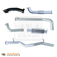 "79 Series 6Cyl TD Single Cab Ute 3"" 409 Grade Stainless Steel Exhaust System"