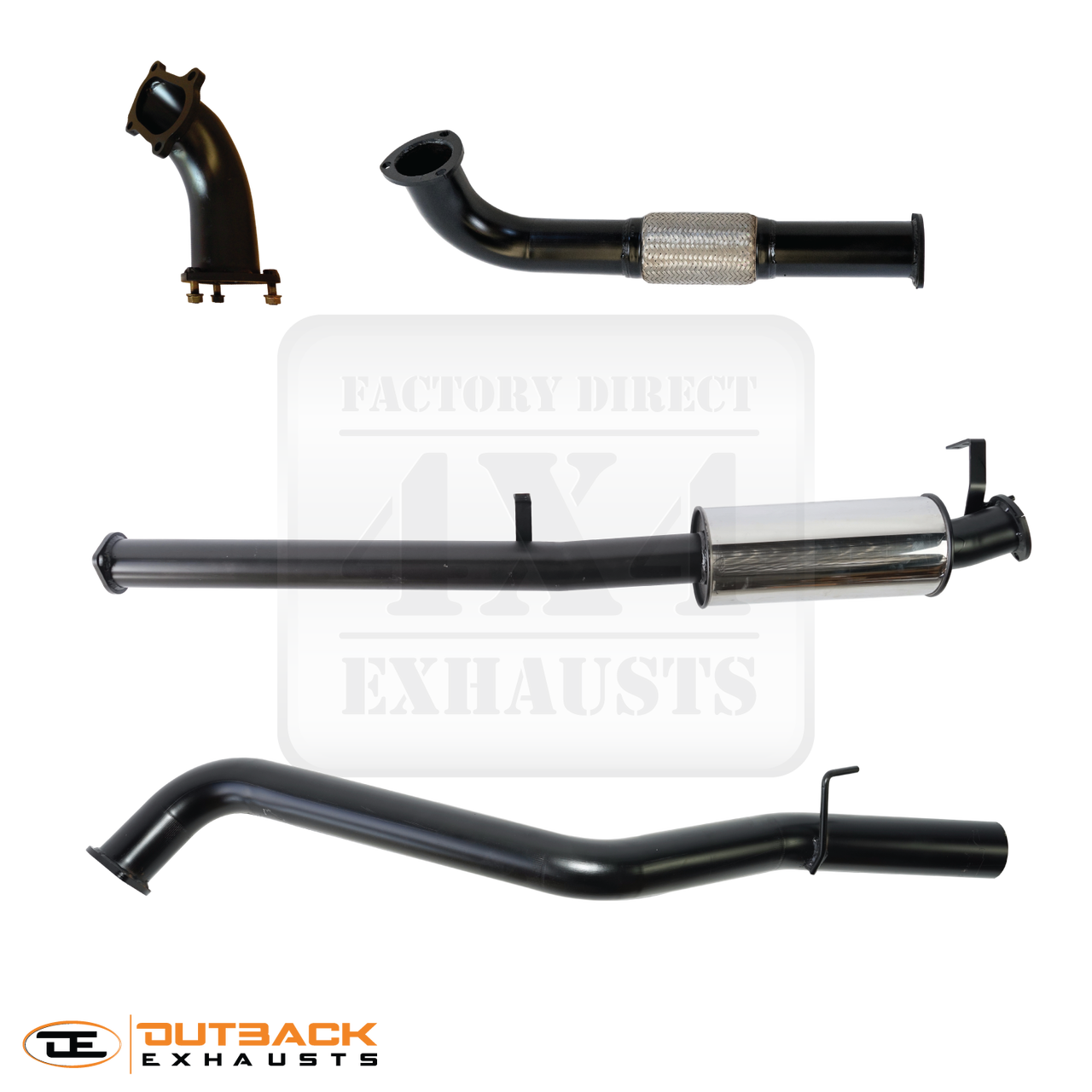 60 Series 3 409 Stainless Exhaust System