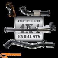 "60 Series 3"" Aluminised Exhaust System-BONUS 409 STAINLESS MUFFLER"