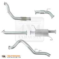 "HOLDEN COLORADO ISUZU D MAX 3.0L Turbo Diesel 4 Door Dual Cab 3"" Aluminised Exhaust System. 08/2010 to 06/2012"