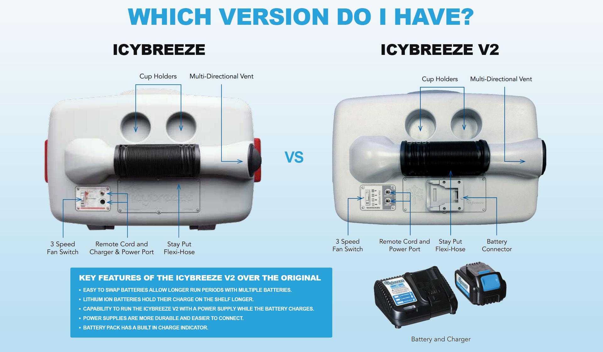 IcyBreeze Version Comparison