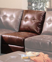 """ARMLESS CHAIR/BROWN F23"""" LX38""""WX36""""H"""