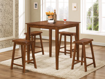 5PC DINING SET, WARM BROWN