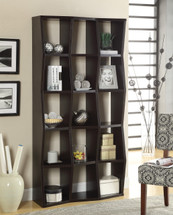 BOOKCASE, CAPPUCCINO 36WX11.5DX70.75H