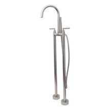 Dyconn Faucet BTF00-BN Wallace Free Standing Tub Filler Faucet with Hand Shower, Brushed Nickel