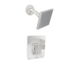 Dyconn Faucet SS261-BN Signature Series Heise Modern Shower Faucet with Valves, Brushed Nickel
