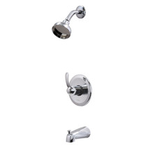 Dyconn Faucet SS312-CHR Comet Polished Chrome Single Handle Tub and Shower Faucet System