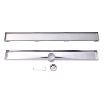 """BOANN BNLD24C16 Contemporary/Modern Tile Insert Design 304 Stainless Steel 23.63"""" Linear Drain"""