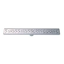 "BOANN BNLD24C12 Modern Hole Design 304 Stainless Steel 23.6"" Linear Drain"